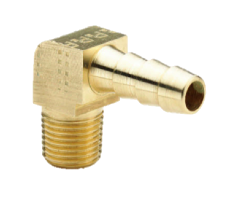 Precision Turbo Fittings: Vacuum Brass Fitting -- 90* Degree 1/8npt To 3/16 Barb
